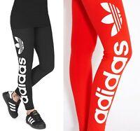 adidas Originals 3-Stripes Mujeres Leggings Sport Fitness Pantalones DT8713 Negro Nuevo