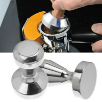 Cy_ ITS- KQ_ Home Cafe Shop Stainless Steel Coffee Bean Press Tamper Espresso Po