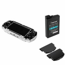Clear Hard Case+Rechargeable Battery+Back Door Cover Gift Pack for SONY PSP 3000
