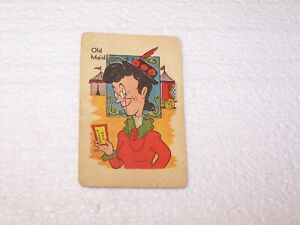 Vtg Old Maid Circus Card Game Ed U Cards 17 pairs Old Maid well used no box