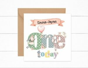 Personalised Girls 1st Birthday Card One Today Daughter Granddaughter Niece