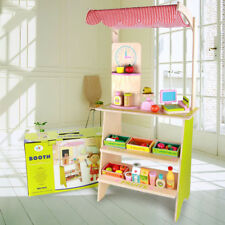 Kids Children Wooden Grocery Store Toy Set Pretend  Play Role Play Toy