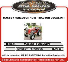 Massey Ferguson 1045 Tractor Decal Set Reprocduction Massey Ferguson