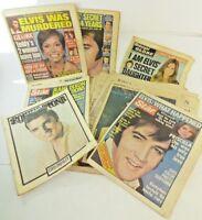 Lot of Vintage Elvis Presley Death Tributes 1977 to 1981 Newspapers & Tabloids