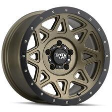 "4-Dirty Life 9305 Theory 17x9 8x6.5"" -12mm Matte Gold Wheels Rims 17"" Inch"