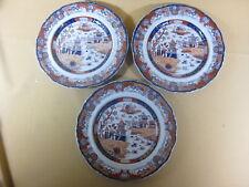 3  19th C English Imari Plates Ashworth Ironstone China Staffordshire