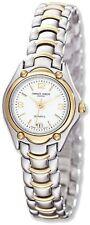 Ladies Charles Hubert Two-tone Brass White Dial Watch