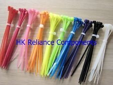 """500, Kit of 10 Colors 4"""" or 10cm Nylon Cable Ties Assortment"""