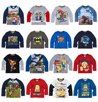 Boys Kids Official Licensed Disney Various Character Long Sleeve T Shirt Top 18