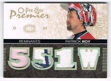 2007-08 O-Pee-Chee OPC Premier Remnants Quad Patch #PR-PR Patrick Roy 16/20 !!