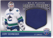 2008 08-09 Be A Player Rookie Jerseys #RJCS Cory Schneider /299 RC-year