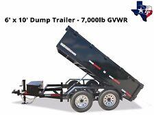 Brand New Texas Pride 6' x 10' Bumper Pull Dump Trailer, 7k gvwr