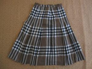 Jupe ecossaise Kilt Vintage Femme Ecosse Made in UK London Wool 100 % Laine - 42