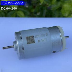RS-395 Dual Shaft Motor DC 6V-24V 11000RPM High Speed Carbon Brush DIY Sweeper