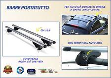 Barre Portatutto Portapacchi Portabagagli per Auto FIAT Doblo' dal 2000 al 2010