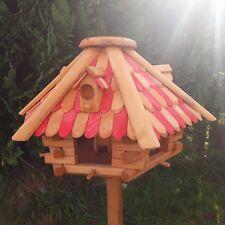 Großes Luxus Vogelhaus Top-Qualität XXL Holz Vogelfutterhaus Vogelhäuschen CB