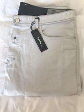 Jeans Diesel Tepphar Bianco 36 Slim Carrot Effetto Vintage