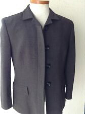MAXMARA ITALY WOOL & SILK SHORT BLAZER JACKET, NWOT, DARK GRAY SZ 10