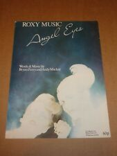 "Roxy Music ""Angel Eyes"" sheet music"