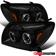 For 2003-2005 Toyota 4Runner Black Clear LED DRL Halo Rims Projector Headlights