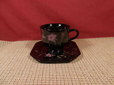 Mikasa China Color Trend Ebony Meadow DR701 Cup & Saucer Set