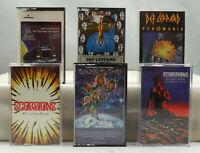 Def Leppard Scorpions Europe Vintage Heavy Metal/Rock Cassette Tape Lot x 6