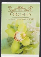 2013 ORCHID PLANTS Australia $6 P&S Booklet Front & Back NO STAMPS Inside