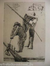 """Norddeutsche Künstler: Pit Morell: """"Don Quichote"""" Auflage 114/180, Radierung"""