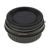 Adapter with Glass for Minolta MD MC Lens to Canon EOS EF Mount Camera +Caps