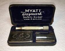 """Vintage Safety Razor - Myatt """"Daymark"""" DE w/ Case, Made in England"""
