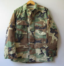 Vintage Jacket Military Issued Button Down Camo Shirt Small