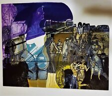 WARRINGTON COLESCOTT Color Softground Etching & Aquatint PENCIL SIGNED ALDGATE