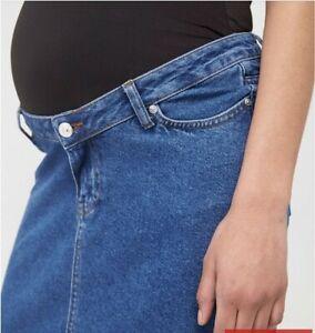 V By Very Maternity Denim Skirt - Dark Wash Size  12