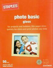 Staples Photo Basic Gloss Paper Inkjet 8 1/2 x 11