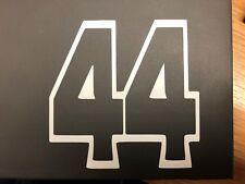 "Lewis Hamilton ""44"" Sticker F1 85x85mm"