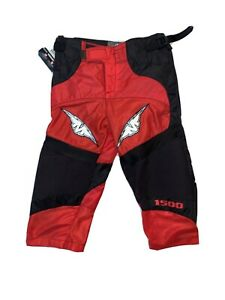Mission 1500 Roller Hockey Pants Junior Small Red And Black