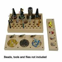 Aventik 3 in 1 Classic Wooden Fly Tying Tool Caddy Fishing Tools Organizer