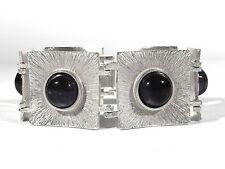 Sixties Silber Amethyst ARMBAND ° massive schwere Ausführung ° 101 Gramm