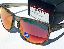 NEW* Oakley SLIVER R Matte Grey Sepia POLARIZED Torch Iridium Sunglass 9342-03