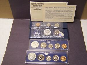 1965, 1966 & 1967  SPECIAL MINT SET'S - ALL (3) WITH ORIGINAL PACKAGING.