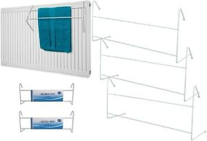 PACK OF 1,2,3 White 50cm Household 2 Bar Clothes Radiator AIRERS Drying Space