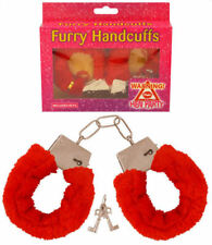 Red Fluffy Handcuffs - Hen & Stag Party Valentines Fancy Dress Costume