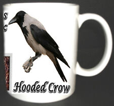 HOODED CROW GARDEN BIRD DESIGN MUG LIMITED EDITION GIFT. Corvus cornix,nest eggs