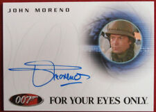 JAMES BOND - For Your Eyes Only, JOHN MORENO, Luigi Ferrara - Autograph Card A42