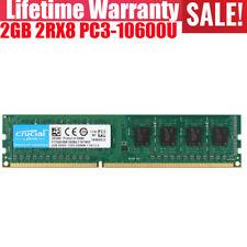Crucial 2GB 2Rx8 DDR3 1333MHZ PC3-10600U 240Pin DIMM Intel Desktop Memory RAM