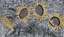 Handmade Beautiful Sunflower Home Art Decor Marble Mosaic IN98
