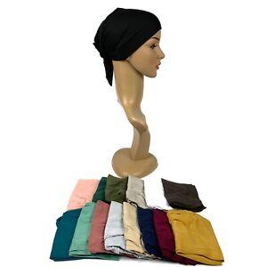 Premium Women Under Scarf Hijab Hat TIE BACK Bonnet Cap Stretchy High Quality