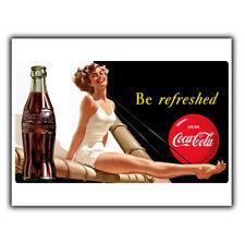 PLACCA di Metallo Segno muro bere Coca-Cola Stile Retrò Vintage Bar Sign Pubblicità COCA COLA 1940 S