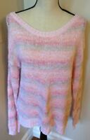 Carolyn Taylor Women's Soft Pink Pastel Knit Pullover Sweater Size Large EUC