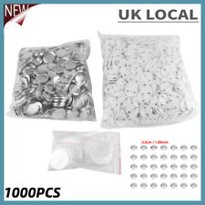 More details for 1000pcs/set 32mm iron metal & plastic diy blank pin badge button parts supplies